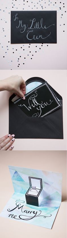 Cute engagement proposal ideas!  http://www.weddingchicks.com/2015/02/08/little-gems-proposal-card/