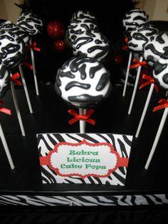Zebra Striped Cake Pops #zebra #cakepops
