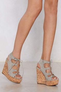 Nasty Gal Cut Ties Lace-Up Wedge Lace Up Wedges 5229305d956b