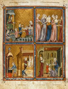 Golden Haggadah: A Unique Methodology The Medieval Haggadah: Art, Narrative & Religious Imagination by Richard McBee. Golden Haggadah (The Plagues of Egypt, Scenes of Liberation, and Preparation for Passover). Late medieval Spain. c. 1320 C.E. Illuminated manuscript (pigments on vellum).