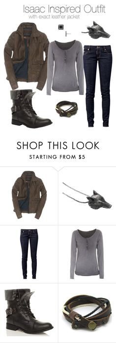 """""""Teen Wolf - Isaac Inspired Outfit With Exact Jacket"""" by stardustonthepiano ❤ liked on Polyvore featuring Superdry, Ugo Cacciatori, Dsquared2, True Religion and Marc by Marc Jacobs"""