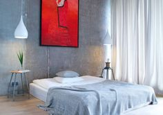 Sypialnia, azjatycka sypialnia, minimalistyczna sypialnia, sypialnia w szarościach, zasłony. Zobacz więcej na: https://www.homify.pl/katalogi-inspiracji/26211/nowoczesny-apartament-w-warszawie-90-m-zachwytu