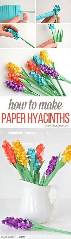 How to Make Paper Hyacinth Flowers   Buzz Inspired