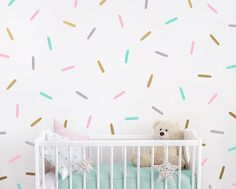 Sprinkle Wall Decals Confetti Wall Decal Set Vinyl Wall