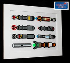 Sonic Screwdrivers Doctor Who perler beads by Kezly Beads