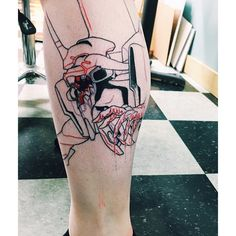 Super fighting robot. (Not finished!) #tattoo #nge #unit01 #evangelion