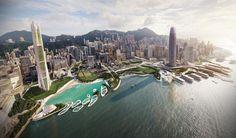 """Le futur """"Central Waterfront"""" vu par Gordon Affleck #HONGKONG"""