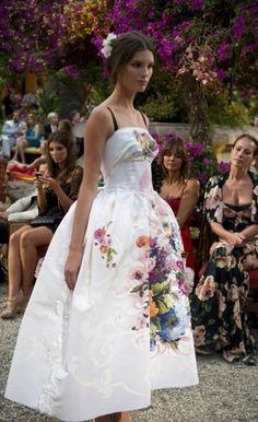Dolce and gabbana handpainted dress