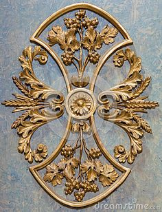 Vienna -  Baroque detail of altar in side chapel in Michaelerkirche or st. Michael church by Jozef Sedmak, via Dreamstime