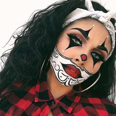43 Trendy Clown Makeup Ideas for Halloween 2019 - Make-Up Ideas Maquillage Halloween Clown, Gruseliger Clown, Halloween Makeup Clown, Amazing Halloween Makeup, Halloween Eyes, Halloween Makeup Looks, Halloween Outfits, Halloween Costumes, Halloween 2019