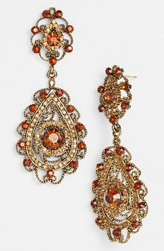 Ornate teardrop earrings