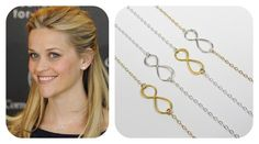 As seen on Reese Witherspoon - infinity necklaces available in store!