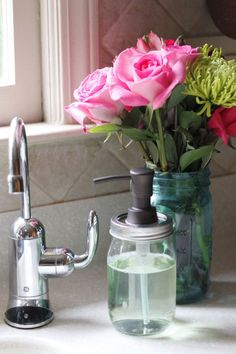 3-Step DIY Mason Jar Soap Pump | Personal Creations Blog