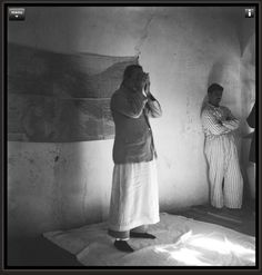 Meher Baba praying.  Link is to page with the major prayers composed by Meher Baba.