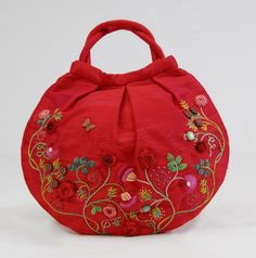 Caroline's Bag in Red by atelierrococo on Etsy