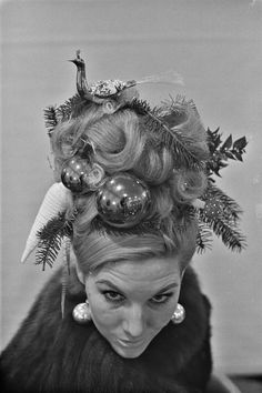 Vintage Christmas hair updo