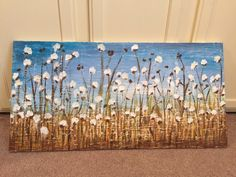 A personal favorite from my Etsy shop https://www.etsy.com/listing/280199670/18x36-cotton-field-painting