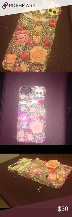 Custom 3D Bling iPhone 6/s Cabochon Hard Case Custom 4 @candypinkkiss 3D Bling iPhone 6/s Pink Cabochon Kawaii Hard Case Accessories Phone Cases