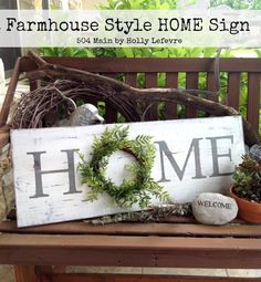 I fell in love with this sign as soon as I saw it!  Didn't Holly do an amazing job…I would love one of these in every room : )  If you would like to get this Rustic Farmhouse Charm look for your home…visit 504 Main and get the DIY…everyone you know is going to want …