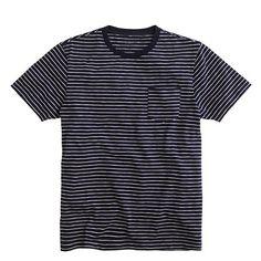 Broken-in pocket tee in ultramarine stripe - graphic & stripe tees - Men's tees, polos & fleece - J.Crew