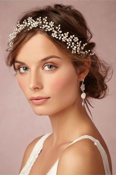 BHLDN Pearly Dreams Halo in  Shoes & Accessories Headpieces at BHLDN