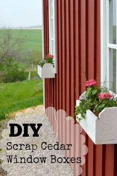 Check out these cute (and simple) DIY window boxes made with cedar fence scraps. Perfect for a little added curb appeal.