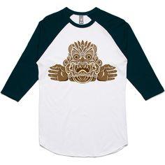 theIndie Asian Carving 3/4-Sleeve Raglan Baseball T-Shirt