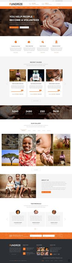 Fundrize – PSD Template can be used for any type of Charity, Donation, #Fundraising #websites. It has 3 Homepage Versions and 16 #PSD Inner Pages.