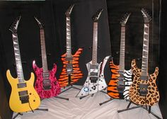 ( Present ) The current Jackson guitar family. jA