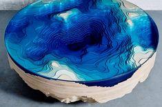 La profondità dell' oceano in un tavolo da caffè