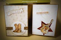 Papierkreationen.net: Zwei schnelle Geburtstagskarten mit Country Livin'