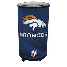 Denver Broncos Ice Barrel Cooler, Multicolor
