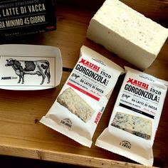 Delicious typical Italian cheese, the Gorgonzola Mauri has now a completely renewed pack in paper and typographic style. (Irving&Co/ Gea Consulting Milano)