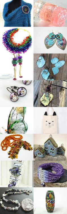 Ready for #Spring by Donna Gingrasso on #Etsy --Pinned with TreasuryPin.com  #jewelry #jewellery #jewelryonEtsy #handmade #fashion #art #style #shopping #treasury #Etsyfinds