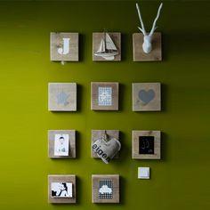 steigerhouten lijstjes leuk met persoonlijke dingen te versieren