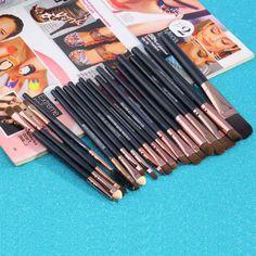 20 Sztuk Profesjonalne Powder Makeup Szczotki Zestaw Kosmetyków Fundacja cienie Do Powiek Nos Lip Make Up Brush Tool Zestawy