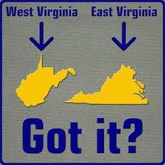 It's just that simple people. WV is a state too...not a part of Virginia.