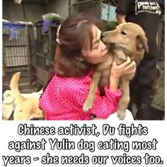THIS CHINESE LADY SAVES DOGS FROM THE HORROR OF #Yulin SHE IS 1 IN A MILLION RAISE UR VOICES #YulinGetDogsOffTheMenu pic.twitter.com/zrtynqOvdH