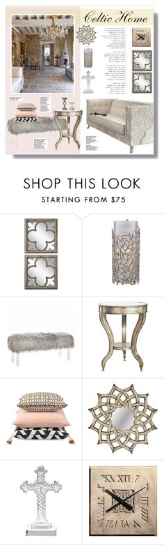 """// 1059. Celtic Home."" by lilymcenvy ❤ liked on Polyvore featuring interior, interiors, interior design, home, home decor, interior decorating, Uttermost, Lenox, Crestview Collection and Universal Lighting and Decor"