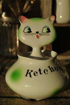 RARE Howard Holt Cozy Kitten Ketchup Jar by VivAndVeruca on Etsy