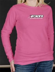 FXR Women's PINK RIBBON LONGSLEEVE  - Pink - Snowmobile Gear