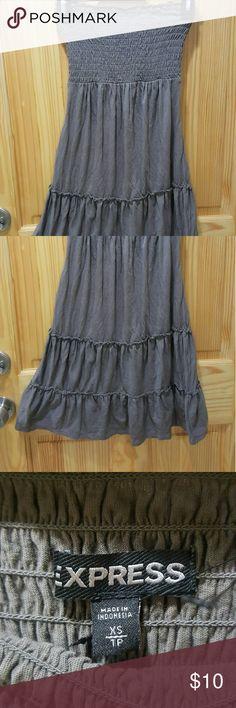 Express brown strapless dress Item: brown strapless dress  Brand: express  Size: XS  Condition: very good Express Dresses Strapless