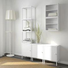 White Shelving Unit, Modular Shelving, Open Shelving, Wall Shelves, Shelf Units, Bathroom Shelf Unit, Bathroom Storage, Small Bathroom, Ikea Storage
