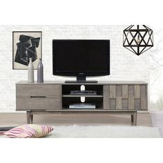 Shop for Grey Tessuto 70-inch Entertainment Center. Get free shipping at Overstock.com - Your Online Furniture Outlet Store! Get 5% in rewards with Club O! - 80008435