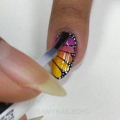 Nail Art Hacks, Nail Art Diy, Diy Nails, Nail Art Designs Videos, Nail Art Videos, Work Nails, Square Nail Designs, Nail Designer, Latest Nail Art
