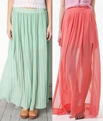 hermosas faldas largas