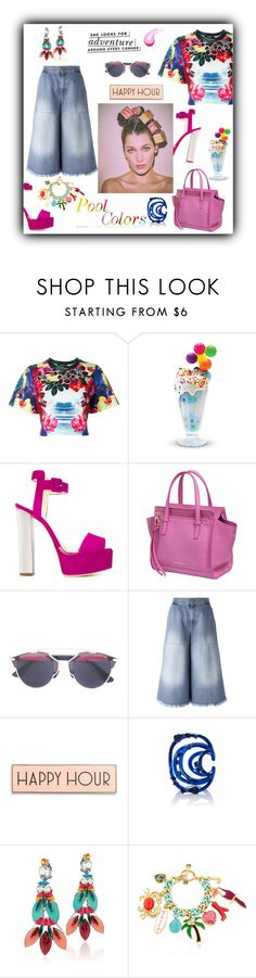 """Happy Hour"" by zabead ❤ liked on Polyvore featuring Dsquared2, Giuseppe Zanotti, Salvatore Ferragamo, Bella Notte, Off-White, Kate Spade, Rosanna, AS29, REMINISCENCE and Juicy Couture"