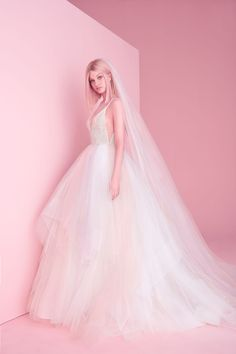 0b441f00d192b Style 6864 Hennessy Hayley Paige bridal gown - Rock Candy ombré tulle ball  gown, encrusted crystal bodice with deep sweetheart neckline and illusion  accent, ...