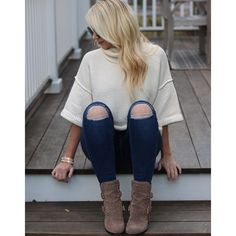 Ankle Skinny Jeans | Chunky Sweater | Booties | Celine Sunglasses | Wrap Bracelets I can't say enough good things about theseAnkle Skinny Jeans. Best purchase of 2016! xx Jenna //