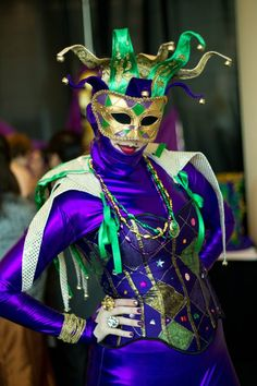 My jester costume has been reused a few times! Yay for parties with Mardi Gras themes!